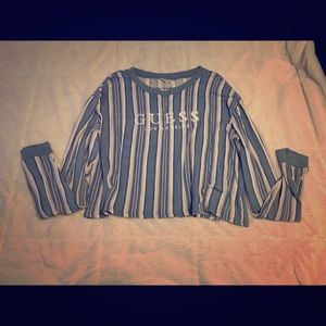 Guess Crop Top Long Sleeve